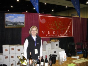 Veritas Vineyards tasting booth