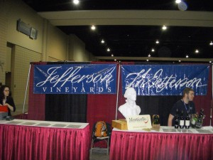 Jefferson Vineyards tasting booth