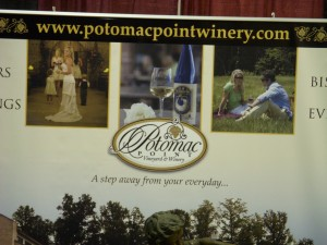 Potomac Point Winery tasting booth