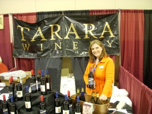 Tarara Winery tasting booth
