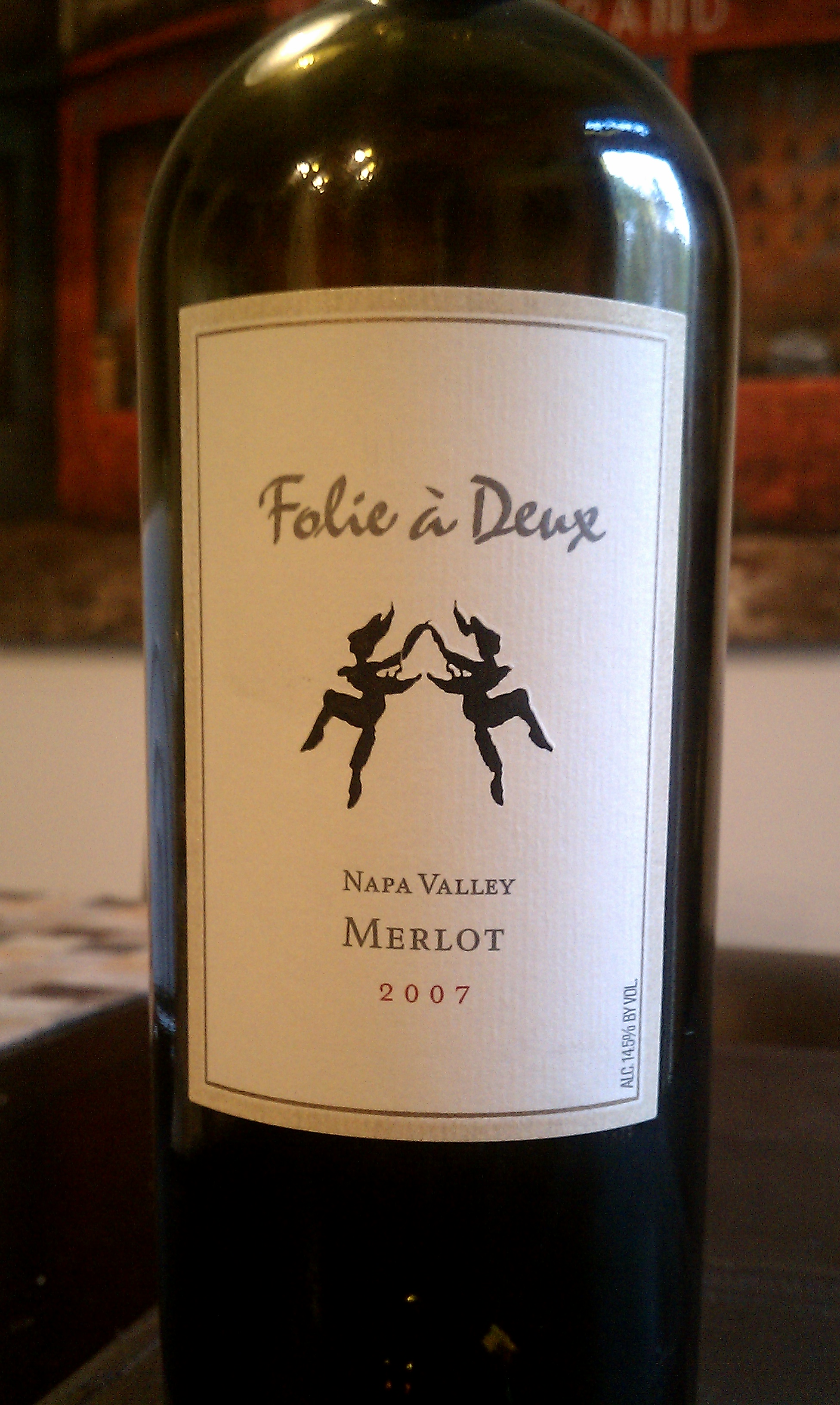 2007 Folie a Deux Merlot from California's Napa Valley