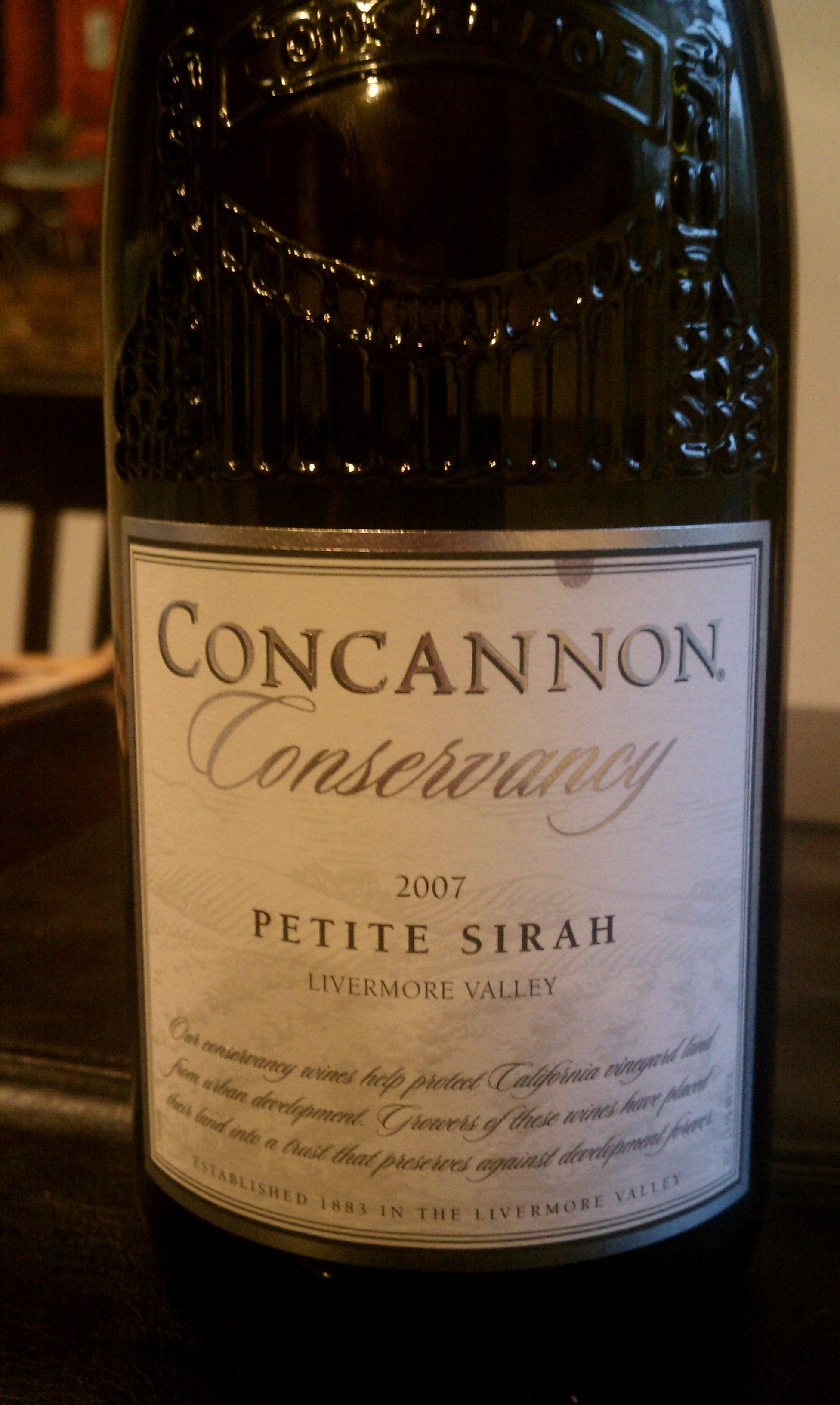 2007 Concannon Conservancy Petite Sirah
