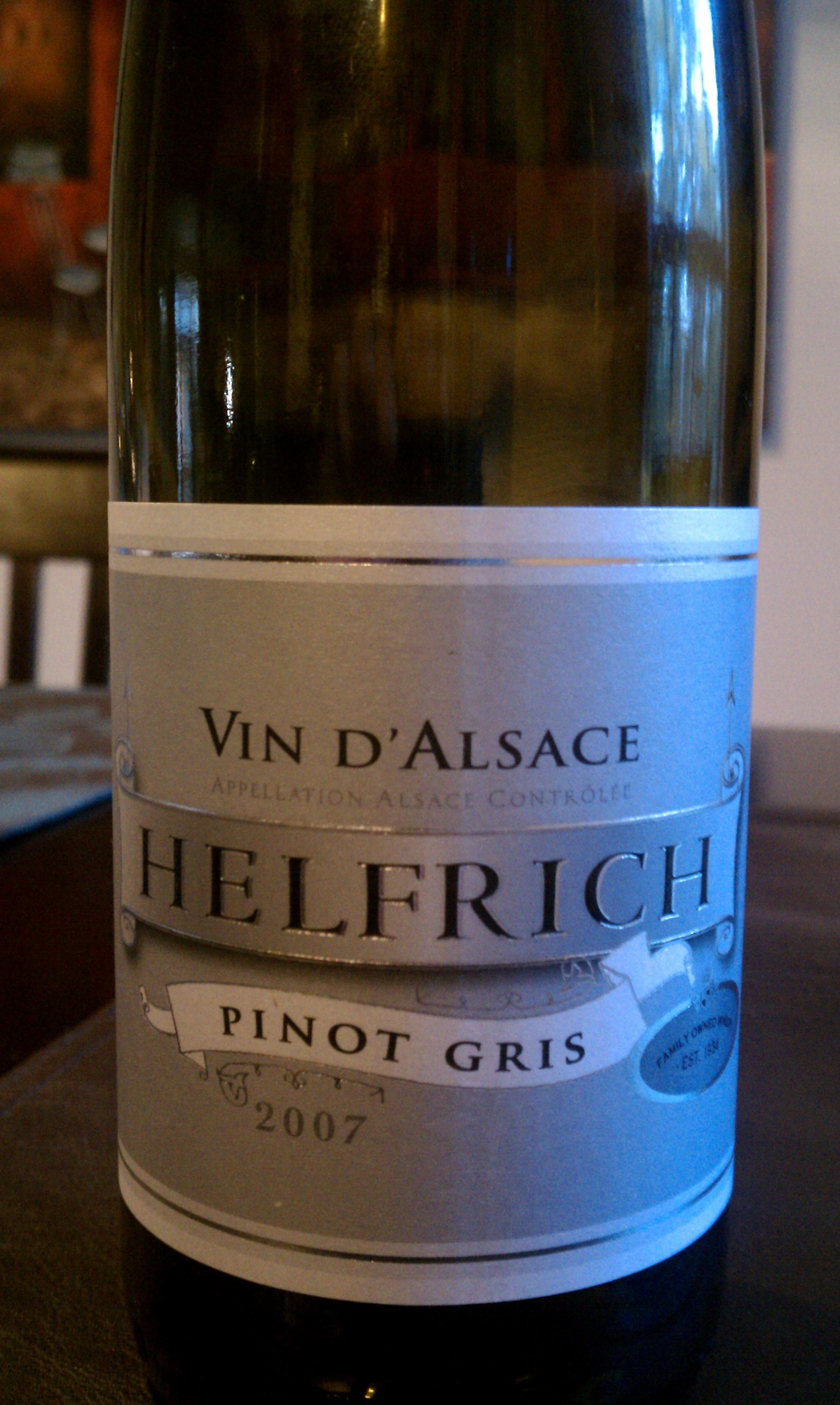 2007 Helfrich Pinot Gris Vin d'Alsace