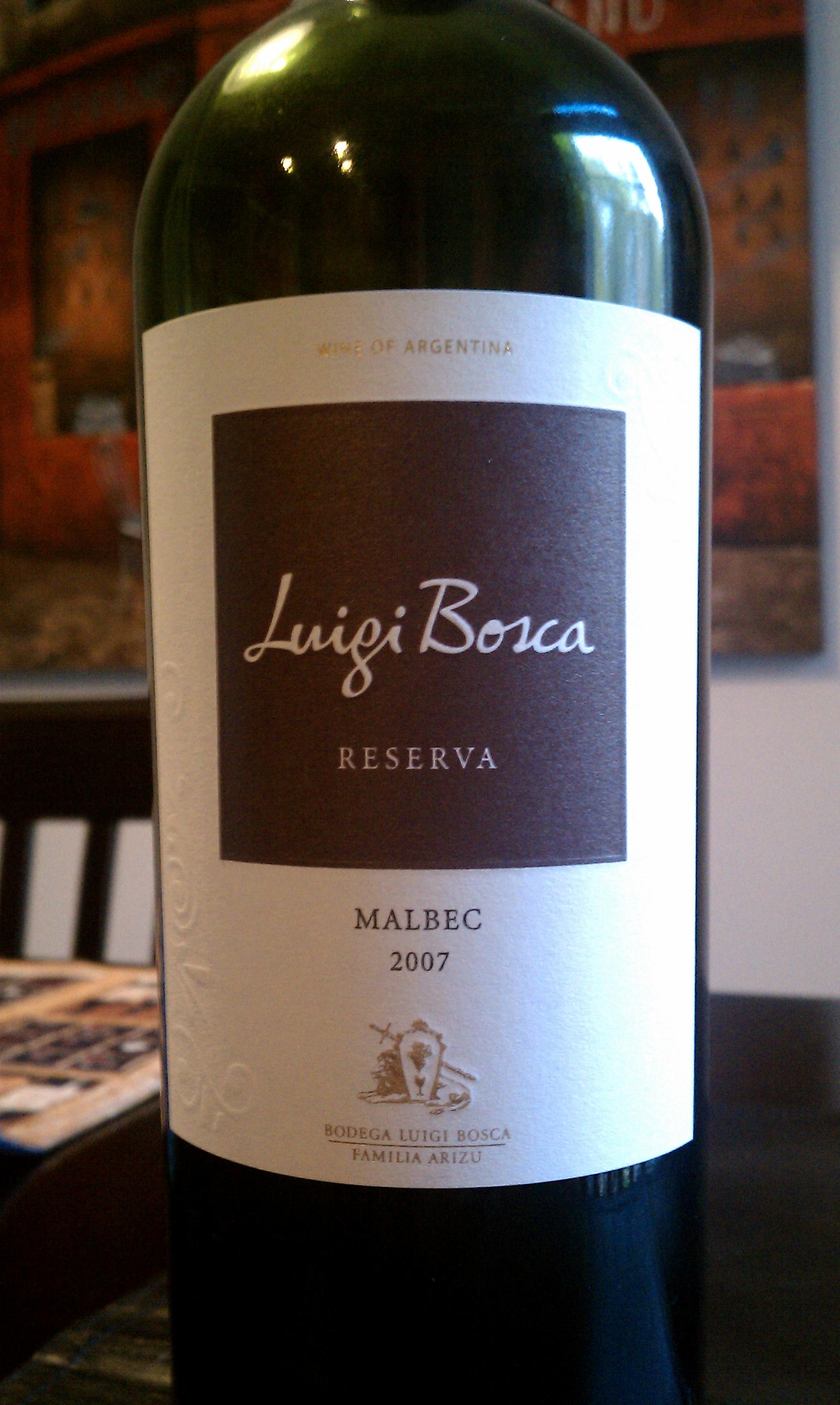 2007 Luigi Bosca Reserva Malbec