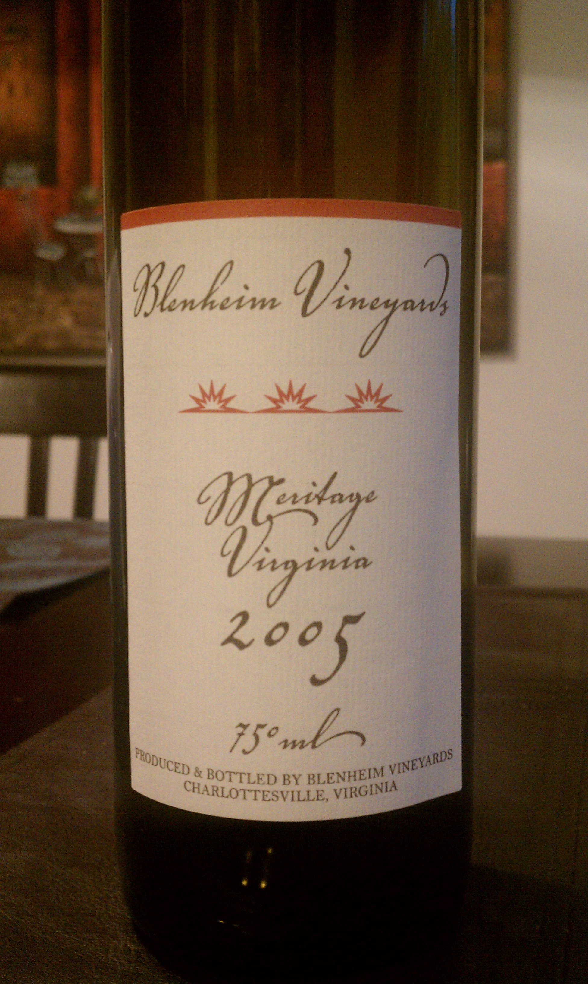 2005 Blenheim Vineyards Meritage