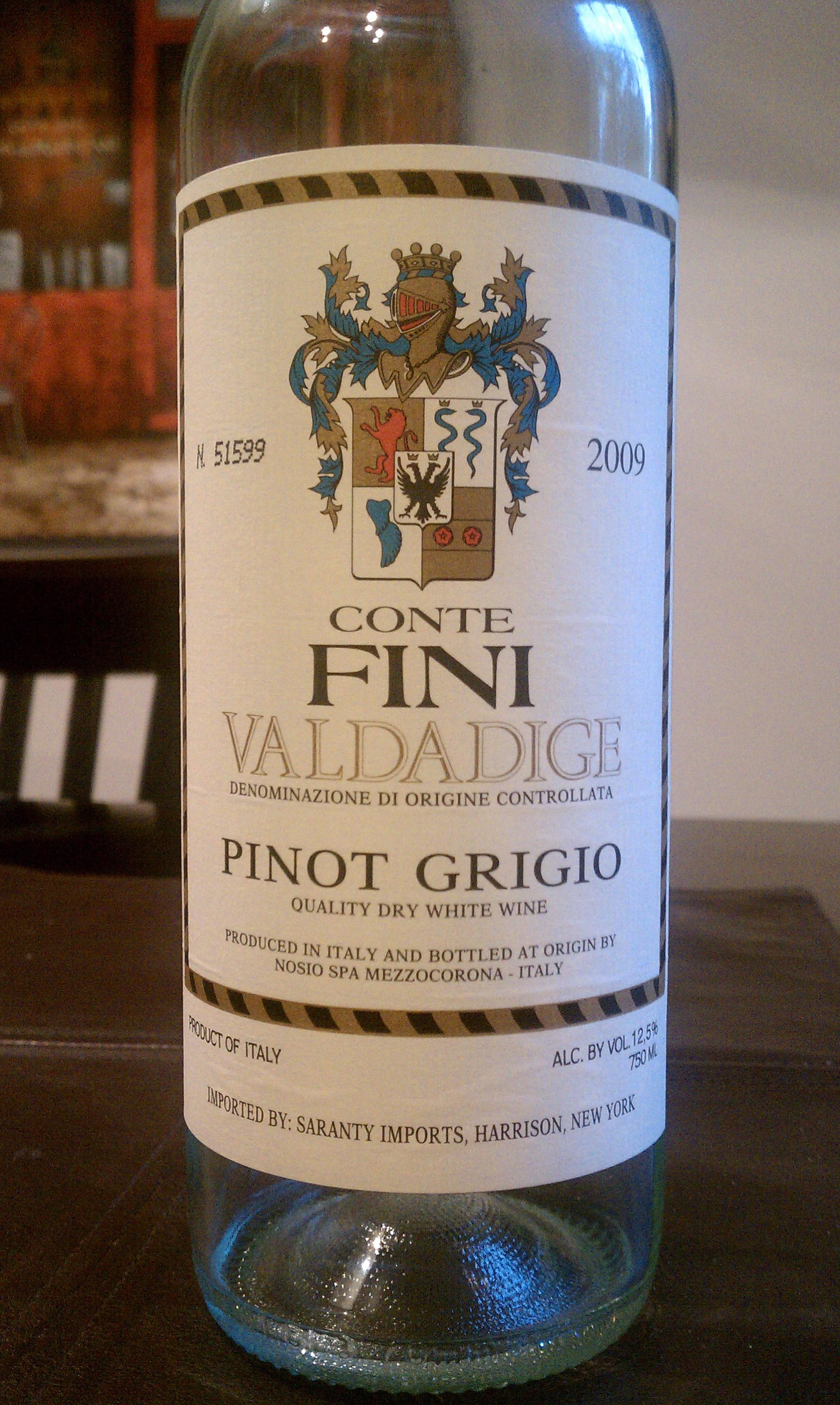 2009 Conte Fini Pinot Grigio