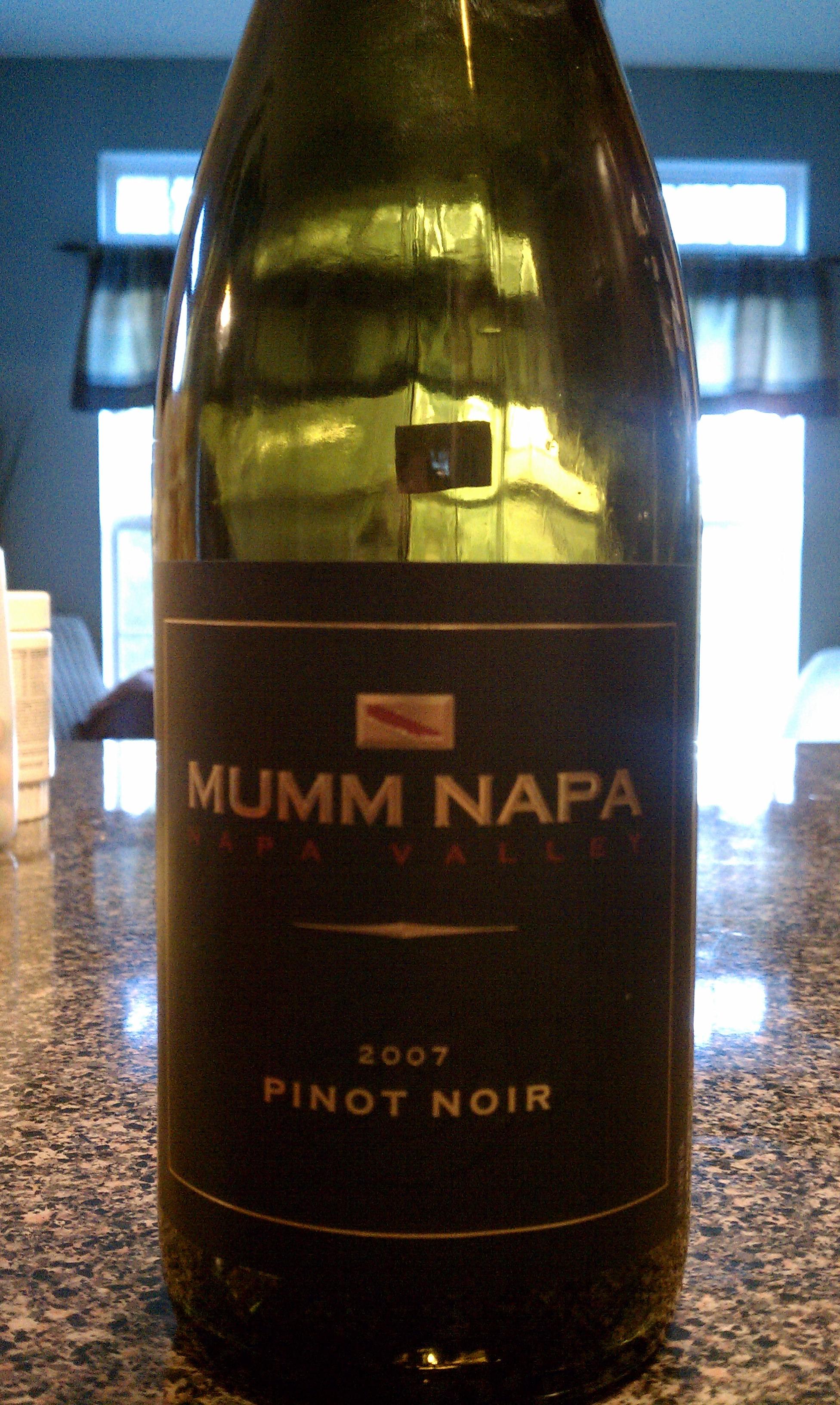 2007 Mumm Napa Pinot Noir