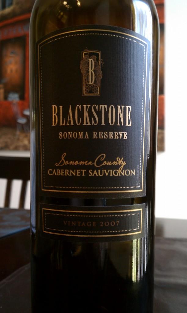 2007 Blackstone Sonoma Reserve Cabernet Sauvignon