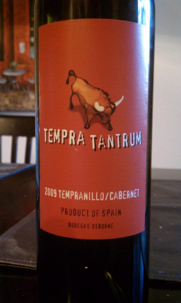 2009 Tempra Tantrum Tempranillo Cabernet