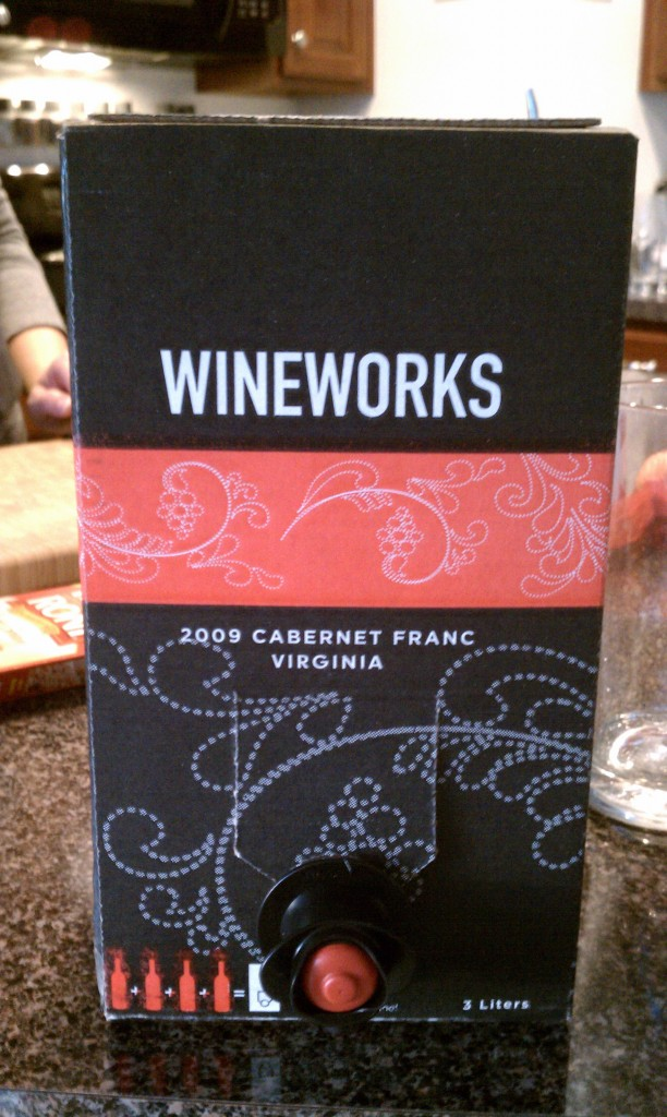 2009 Virginia Wineworks Bag in the Box Cabernet Franc