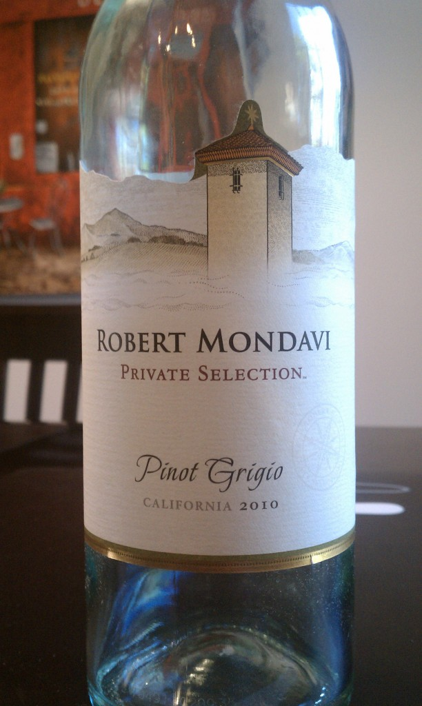 2010 Robert Mondavi Private Selection Pinot Grigio