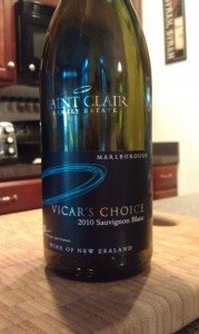 Saint Clair Vicar's Choice Sauvignon Blanc 2010