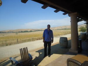 George on the patio at McGrail Vineyards