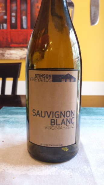 2012 Stinson Vineyards Sauvignon Blanc