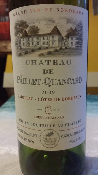 2009 Chateau de Paillet-Quancard