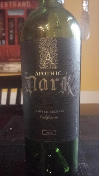2012 Apothic Dark