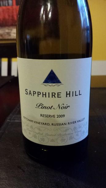 2009 Sapphire Hill Pinot Noir Reserve