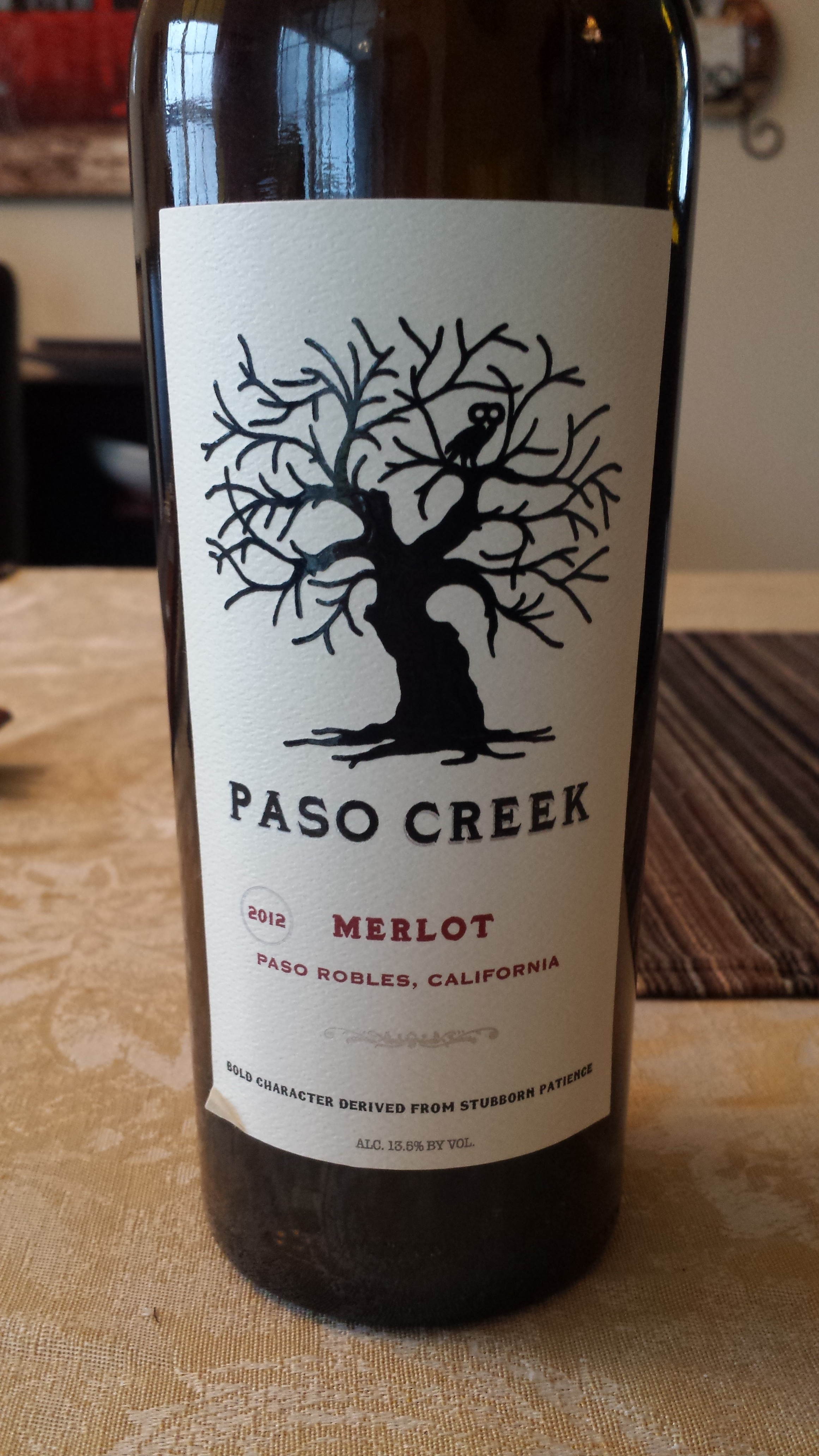 2012 Paso Creek Merlot