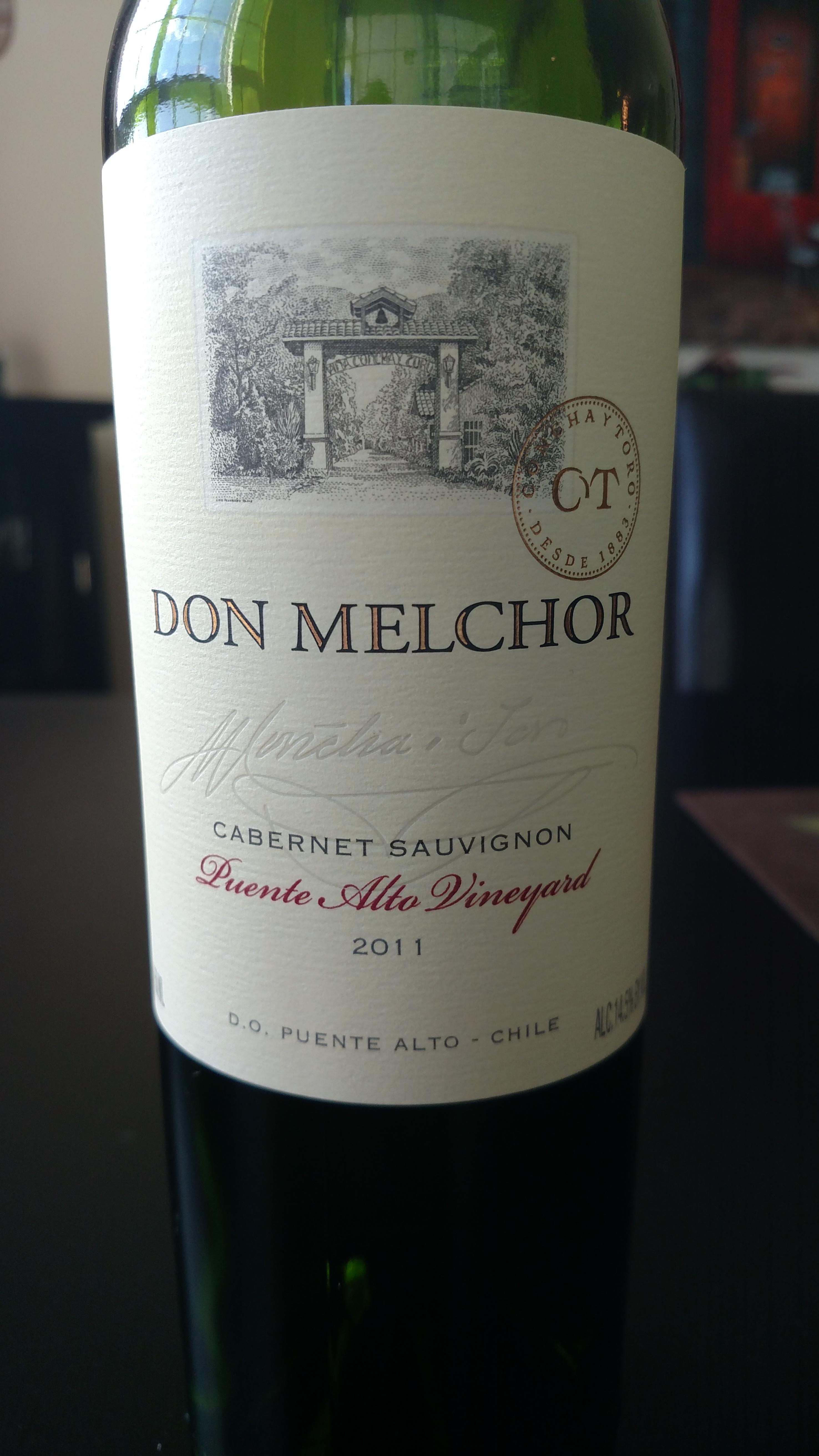 2011 Don Melchor Cabernet Sauvignon