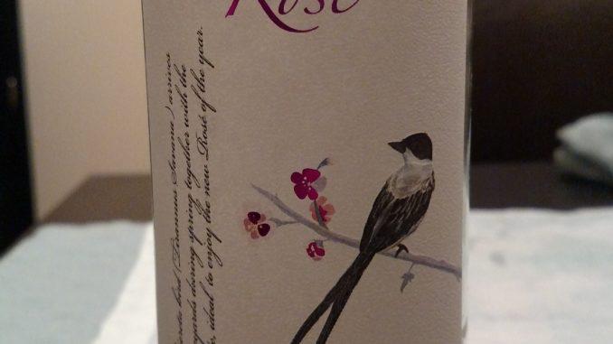 Empty bottle of 2015 Alta Vista Rose'