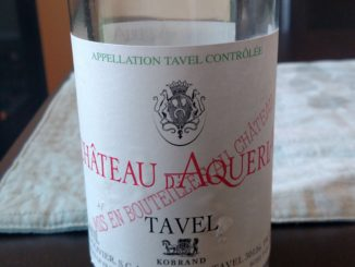 Bottle of 2015 Chateau d'Aqueria Tavel Rose'