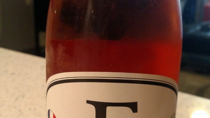 A picture of a bottle of Locations Wine F5 Rose'