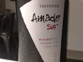 Picture of a bottle of 2014 Amado Sur Malbec