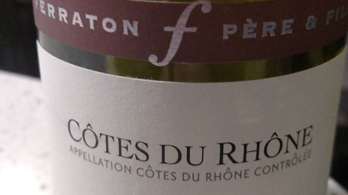 Picture of a bottle of 2016 Ferraton Pere & Fils Cotes du Rhone Samorens Blanc