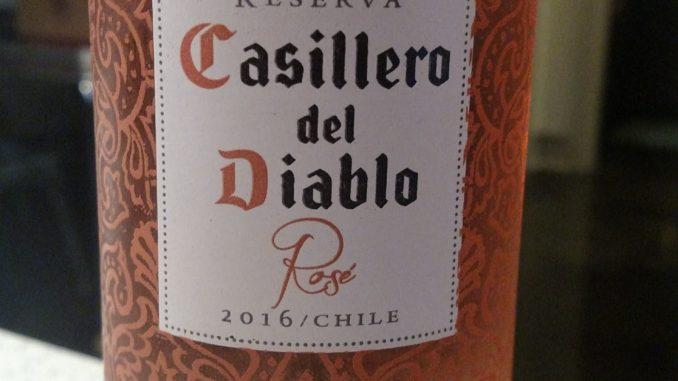 Picture of a bottle of 2016 Casillero del Diablo Rose'