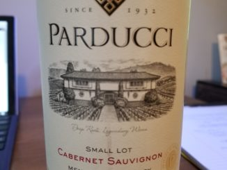 Image of a bottle of 2014 Parducci Small Lot Cabernet Sauvignon