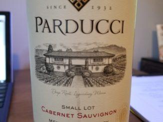Image of a bottle of 2014 Parducci Small Lot Cabernet Sauvignon