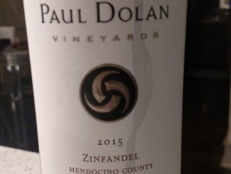 Photo of a bottle of 2015 Paul Dolan Zinfandel
