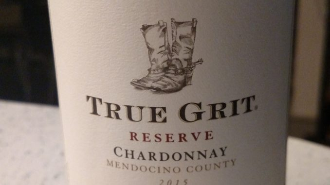 Picture of a bottle of 2015 True Grit Reserve Chardonnay