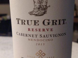 Image of a bottle of 2015 True Grit Reserve Cabernet Sauvignon
