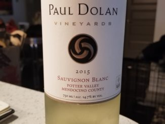 Image of a bottle of 2015 Paul Dolan Sauvignon Blanc