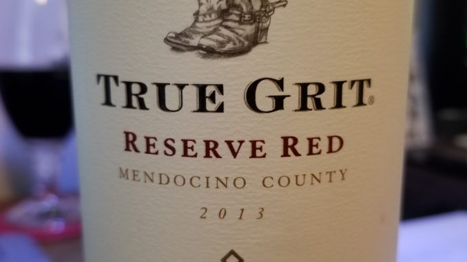 Image of a bottle of 2013 Parducci True Grit Reserve Red
