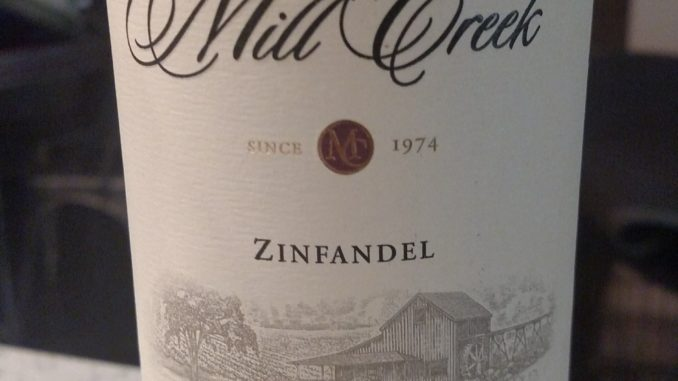 Image of a bottle of 2013 Mill Creek Zinfandel