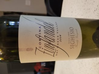 Image of a bottle of 2014 Seghesio Family Vineyards Cortina Zinfandel