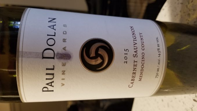 Image of a bottle of 2015 Paul Dolan Vineyards Cabernet Sauvignon