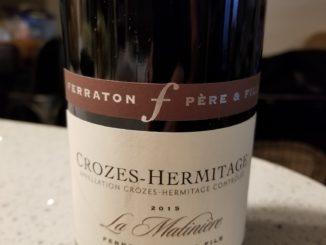 Image of a bottle of 2015 Ferraton Pere & Fils La Matiniere