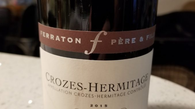 Image of a bottle of 2015 Ferraton Pere & Fils La Matiniere