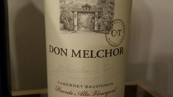 Image of a bottle of 2014 Don Melchor Cabernet Sauvignon