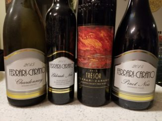 Image of bottles from the Ferrari-Carano Holiday Wine Tasting