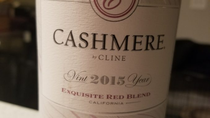 Image of a bottle of 2015 Cashmere Red Blend
