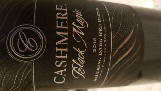 Image of a bottle of 2015 Cashmere Black Magic