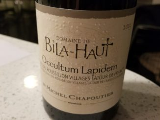 Image of a bottle of 2015 Bila-Haut Occultum Lapidem Red