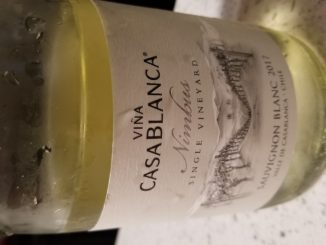Image of a bottle of 2017 Vina Casablanca Nimbus Sauvignon Blanc
