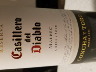 Image of a bottle of 2016 Casillero del Diablo Malbec