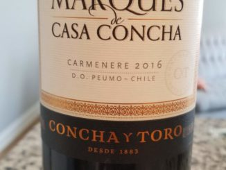 Image of a bottle of 2016 Marques de Casa Concha Carmenere