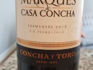 Image of a bottle of 2016 Marques de Casa Concha Carmenere